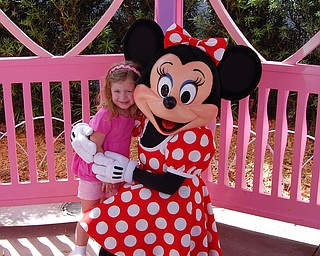 Sophia Yurich, age 4 meets her favorite person Minnie Mouse on her Florida vacation to Walt Disney World this past Spring Break.  Picture by her dad, Joe Yurich of Poland.