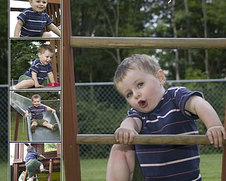Zackery loved playing on his swingset with his sister Megan this
