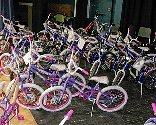 62 bicycles were given away to Campbell Elementary School's 4th graders who passed all three parts of the 4th Grade OAT.