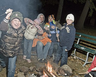 The scares along The Haunted Hayride in Boardman Park. Valley residents get into costume and get creepy.