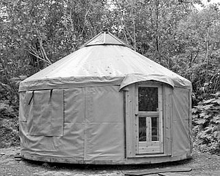 MOSQUITO SIGHT: This is a yurt, a type of tent on a wooden platform with electricity. It is one of the amenities the campground at Mosquito Lake State Park will begin to provide next spring.