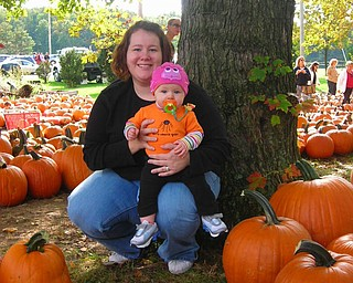 Maddie Devlin, 8 months, shares a moment with her mom, Lisa Devlin of Austintown. Karl Delin is her dad.