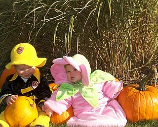 Ryan and Cali with pumpkins. Submitted by:  Seth and Kelly Matey (parents) of New Springfield