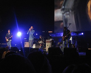 Ben Harper at the Get Out and Vote '08 show at the Chevrolet Centre Wednesday night.