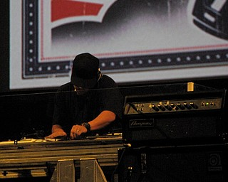 Mix Master Mike of the Beastie Boys at the Get Out and Vote '08 show at the Chevrolet Centre Wednesday night.