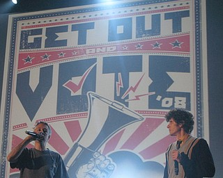 The Beastie Boys at the Get Out and Vote '08 show at the Chevrolet Centre Wednesday night.