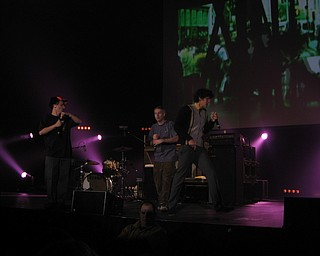 Beastie Boys at the Get Out and Vote '08 show at the Chevrolet Centre Wednesday night.