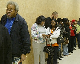 Early voters Mahoning County Board of Elections Nov. 3.