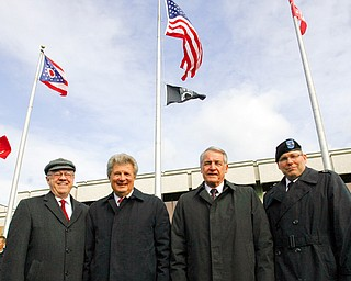 THREE GENERALS - and the Chief - Dr David Sweet and Army Generals Don Infante bob Lynn and Matt Kambic  (all YSU alumni) were a part of the Veterans Day ceremony at YSU.