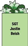 SGT Justin Beish 1-145 AR reg Echo Company 31530/mfo 52 APO AE 09833 Serving in Egypt with Ohio National Guard. 2001 graduate of Cardinal Mooney High School. Son of Robert and Fran Beish of Boardman.