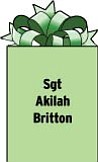 Sgt Akilah Britton DCO 6-101 TF Shadow APO AE 09354 Stationed in Afghanistan. Former Akilah D. Perkins; 1999 graduate of Wilson High School.