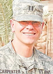 CPT Keith T. Carpenter 848th FST MED DET Camp Delta, Iraq APO AE 09317 Serving in the U.S. Army in Iraq. Resident of Austintown.