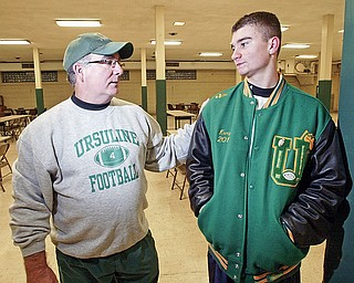 Larry Kempe, Ursuline Coach and his son Paul Kempe.