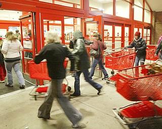 Black Friday shoppers Boardman, OH November 28, 2008.