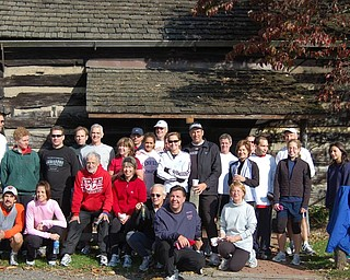 Youngstown Road Runners Club after a run at the Old Log Cabin in Mill