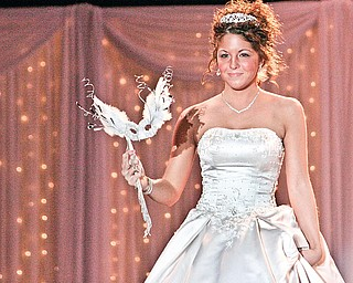 Jana Davis of Niles participates in the 25th Bridal Show presented by Evaline's Bridal at Chevrolet Centre Saturday December 27, 2008