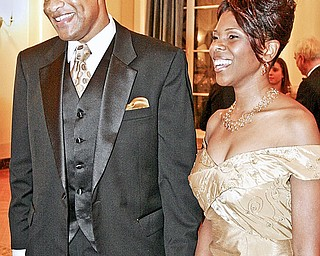 Youngstown Mayor Jay Williams and his wife, Sonja, at the second annual Mayor's Community Celebration  at the Stambaugh Auditorium in January 2006