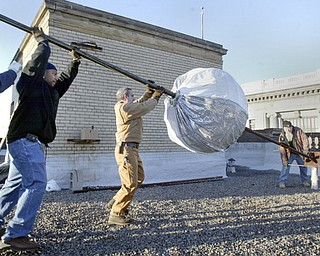 First Night Youngstown Ball Drop Preparation.