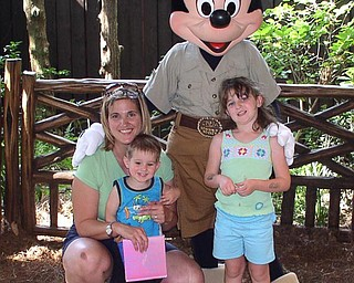 ANDREW AND MADDIE MORAN AT DISNEY WORLD.  SENT BY GRANDPA JIM HICKOK OF CANFIELD
