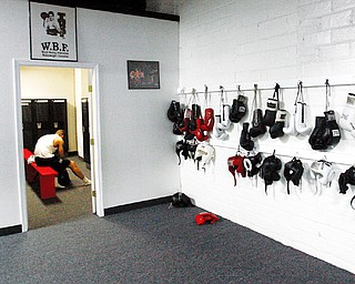 The Locker Room  at Jack Loew's new South Side Boxing club - on Market St in Youngstown
