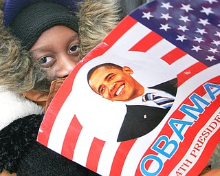 Rashaan Nelson , 8,of Youngstown - during inaugural festivities Tuesday