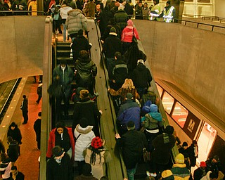 Crowds filled the Washington Metro for inauguration day activities