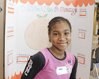 McGuffey 5th grader Artajiah Jones (11) at the Youngstown City Schools All-City Science Fair at East High School, Saturday February 7, 2009