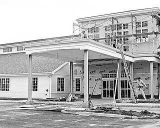 Leetonia library construction