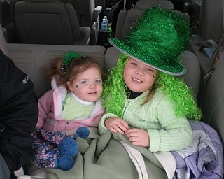 THEY LOVE A PARADE: Allison Pruchniewicz of Boardman grabbed this shot of 5-year-old Chloe and 2 1/2-year-old Emma at the St. Patrick's Day parade in 2008.