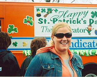 PARADE: Julie Fincham, of Youngstown, shows hers colors at the 2006 St. Patrick's Day parade in Boardman.