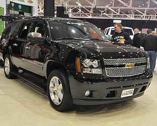 Flex fuel Chevrolet Suburban at the 2009 Cleveland Auto Show