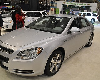 Chevrolet Malibu hybrid at the 2009 Cleveland Auto Show
