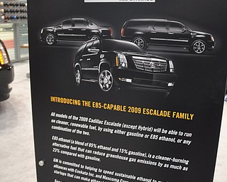 Cadillac Flex Fuel display at the 2009 Cleveland Auto Show