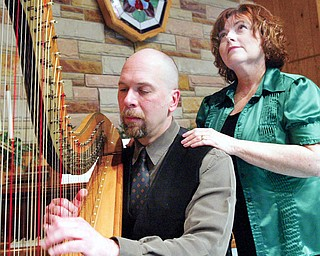 Harpist Kirk Kupensky and vocalist Colleen McNally-Harris perform Celtic music.