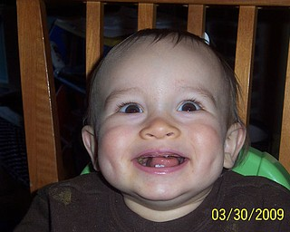 This is 11-month-old COOPER MARTZ of Boardman. His mom, Tracy, sent this shot.