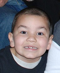 Renee Bero sent this picture of her grandson, SANTINO JORGE, a first grader who lives in Struthers. He is in the process of loosing his baby teeth.