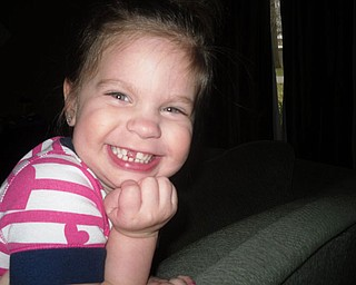 This picture 3-year-old ZOE VODHANEL Boardman was sent in by Zoe's mom, Kim Vodhanel.