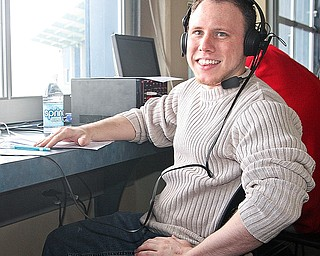Hubbard native Ryan Gasser has become the official voice for both the YSU baseball and softball teams doing live broadcasts over the university's Internet connections.
