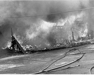 Charred remians; Apr. 26, 1984 Park offices burn to the ground.