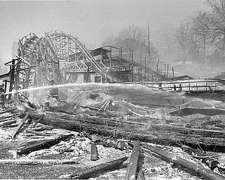 This is the area where the fire originally started. Welders working on the The Lost River ride accidently started the fire. Apr. 26, 1984