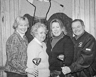 <p>Special to The Vindicator</p> <p>CLASSIC COMPETITION: Prepared to take part in the Teddy Bear Classic at Salem Golf Club on May 22 are, from left, Gwen Darnell and Tina Thompson, event chairs; Audrey Chengelis; and George Roman, event chair.</p>
