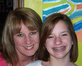 Cathy, 45, and Samantha, 12, Janis of Boardman.