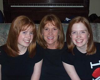 Meghan Ferguson, 45, and daughters, Rachel and Dana, 17, of Austintown.