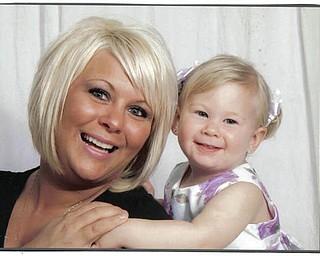 Tabitha Johns, 27, and Grace Johns, 20 months, of Lake Milton.