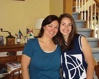 Kim Horvath (wife of Bob Horvath, formeraly of Austintown) and her daughter, Becky Horvath, 11, of Avon.