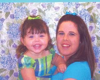 Tamara Fairburn, 23, and Demara DeVilla, 35 months, of Mineral Ridge.