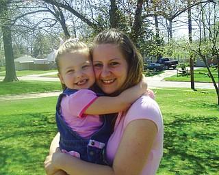 Charitee Fink, 24, and Makenna Fink, 4, of Austintown.