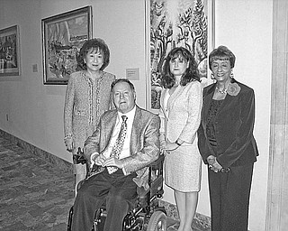 <p>Special to The Vindicator</p> <p>READY FOR GALA: Looking forward to a gala party they have helped arrange in celebration of the 90th anniversary of The Butler Institute of American Art are, from left, Florence Wang, Bill Buchman, Rebecca M. Gerson, and Juanita F. Williams, members of the steering committee. </p>
