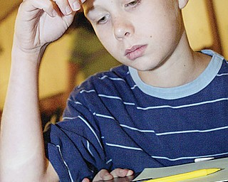 Bruce Pyles, Lordstown 5th grader, competes in Equations event Tuesday.