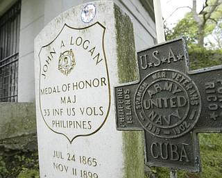 Grave of Maj. John A. Logan in Youngstown's Oak Hill Cemetery.